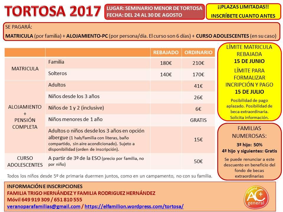 Tortosa 2017_PRECIOS